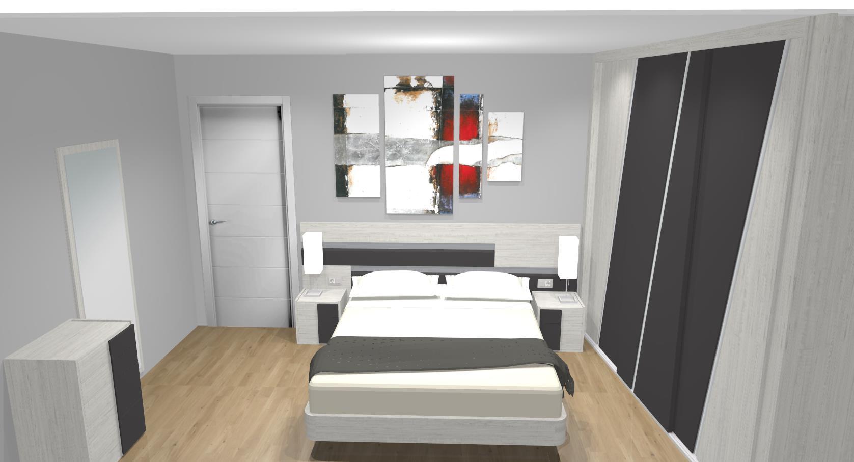 FOTO dormitorio elena completo armario 3 puertas correderas a medida